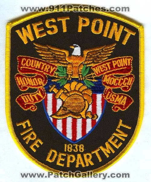 West Point Fire Department Patch New York NY