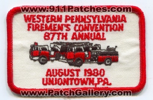 Western Pennsylvania Firemens Convention 87th Annual Fire Patch Pennsylvania PA