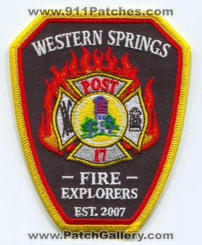 Western Springs Fire Explorers Post 17 Patch Illinois IL