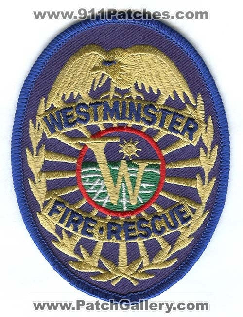 Westminster Fire Rescue Department Patch Colorado CO