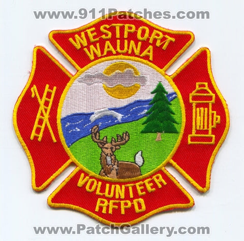 Westport Wauna Volunteer Rural Fire Protection District Patch Oregon OR