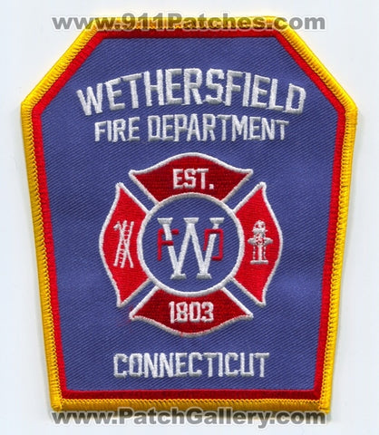 Wethersfield Fire Department Patch Connecticut CT