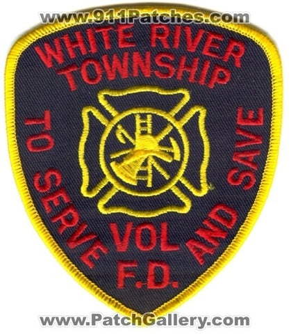 White River Township Volunteer Fire Department Patch Indiana IN
