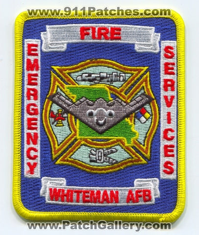 Whiteman Air Force Base AFB Fire Department USAF Military Patch Missouri MO