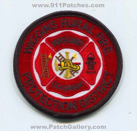 Wiggins Rural Fire Protection District Patch Colorado CO