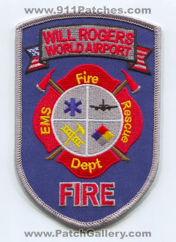Will Rogers World Airport Fire Department Patch Oklahoma OK
