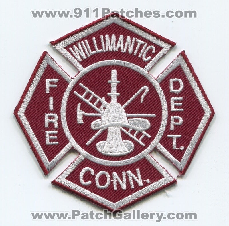 Willimantic Fire Department Patch Connecticut CT