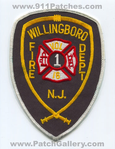 Willingboro Volunteer Fire Department Engine Tower 16 Patch New Jersey NJ