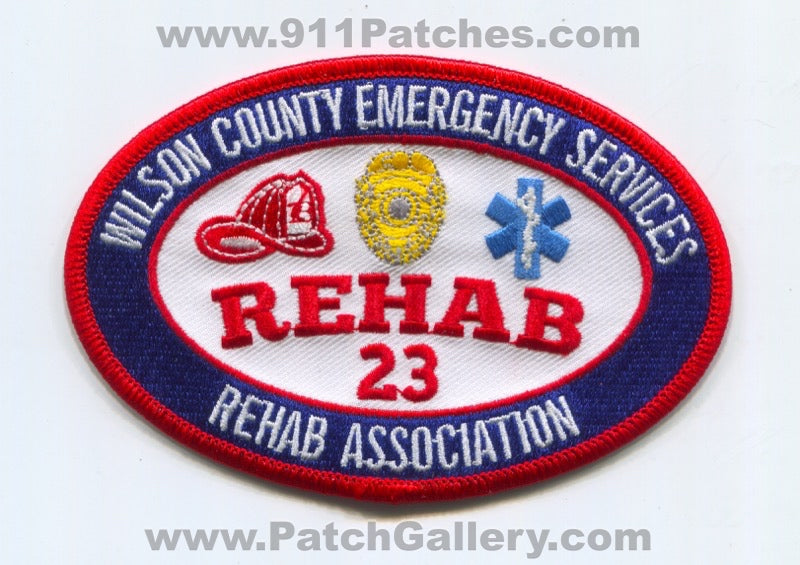 Wilson County Emergency Services Rehab Association Rehab 23 Patch Tennessee TN