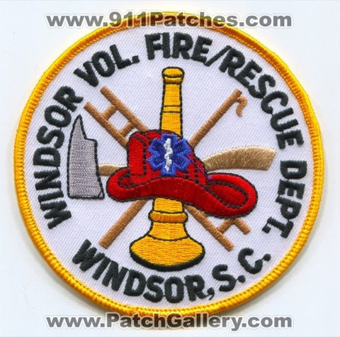 Windsor Volunteer Fire Rescue Department Patch South Carolina SC