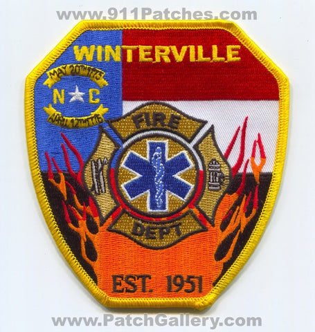 Winterville Fire Department EMS Patch North Carolina NC