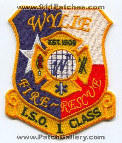 Wylie Fire Rescue Department Patch Texas TX