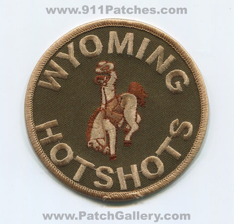 Wyoming Hotshots Forest Fire Wildfire Wildland Patch Wyoming WY