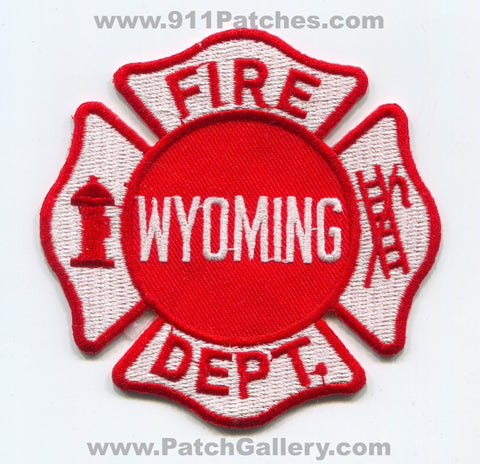 Wyoming Fire Department Patch Michigan MI