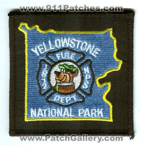 Yellowstone National Park Fire Department Patch Wyoming WY