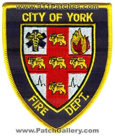York Fire Department Patch Nebraska NE