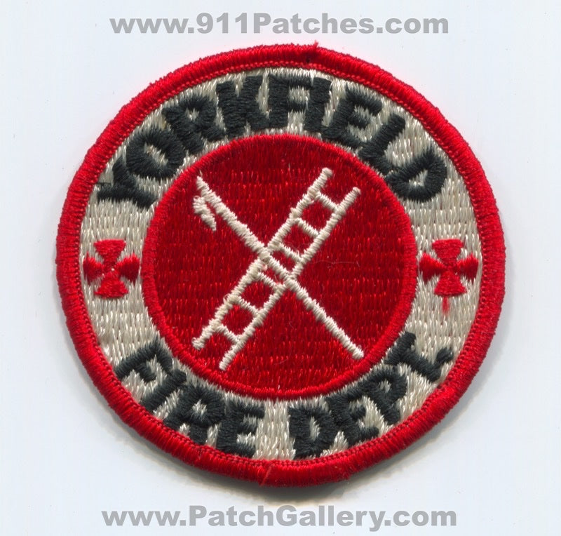 Yorkfield Fire Department Patch Illinois IL