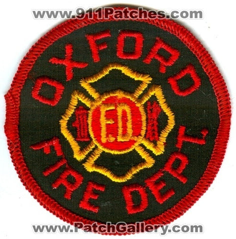 Oxford Fire Department Patch Unknown State