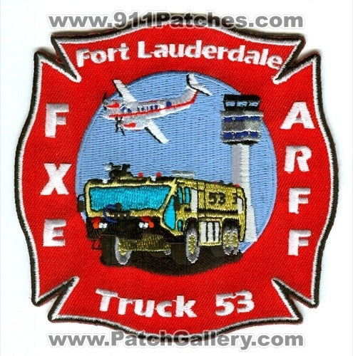 Fort Lauderdale Fire Rescue Department Truck 53 ARFF Patch Florida FL