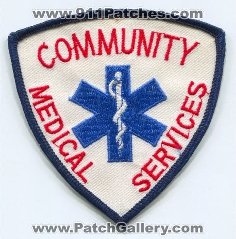 Community Medical Services Ambulance EMS Patch Florida FL