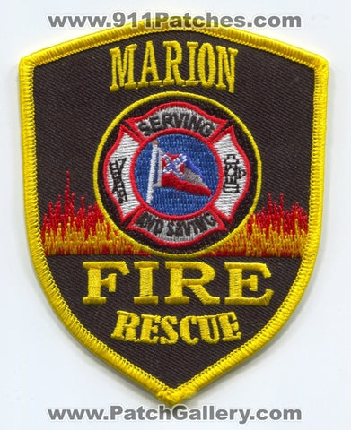 Marion Fire Rescue Department Patch Mississippi MS