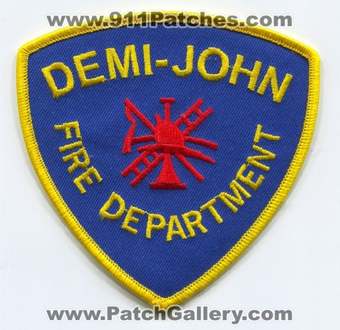 Demi John Fire Department Patch Texas TX