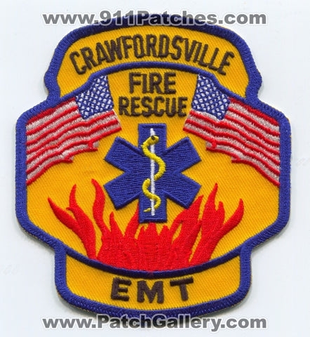 Crawfordsville Fire Rescue Department EMT Patch Indiana IN