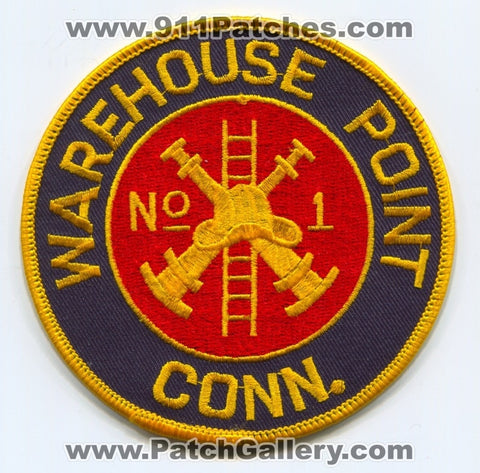 Warehouse Point Fire Department Company Number 1 Patch Connecticut CT