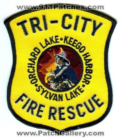 Tri-City Fire Rescue Department Patch Michigan MI