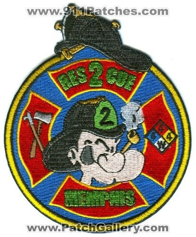 Memphis Fire Department Rescue 2 Patch Tennessee TN