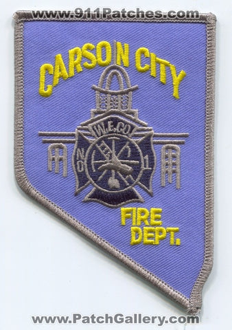 Carson City Fire Department Warren Engine Company Number 1 Patch Nevada NV