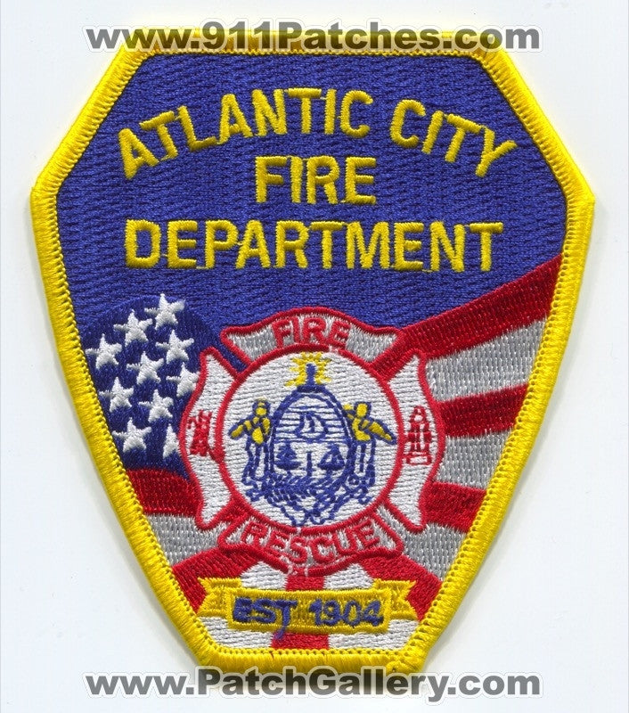 Atlantic City Fire Rescue Department Patch New Jersey NJ