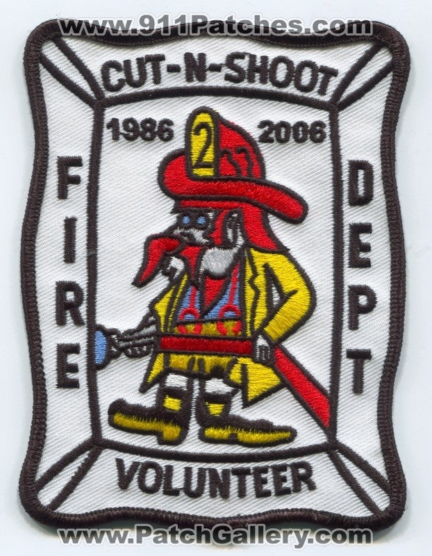 Cut and Shoot Volunteer Fire Department Patch Texas TX