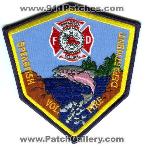 Spearfish Volunteer Fire Department Patch South Dakota SD