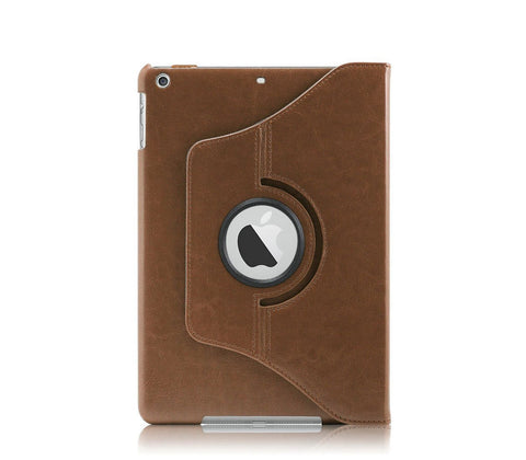 iPad Air PU Leather 360 Degree Rotating Stand Case - Brown