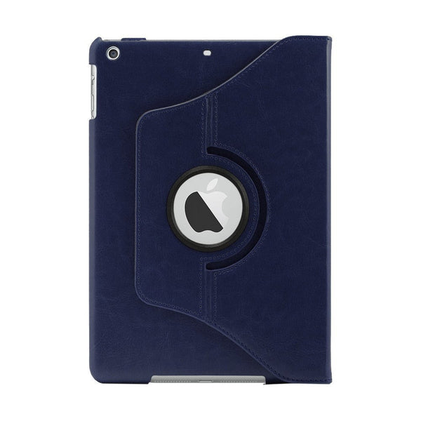 iPad Air PU Leather 360 Degree Rotating Stand Case - Blue