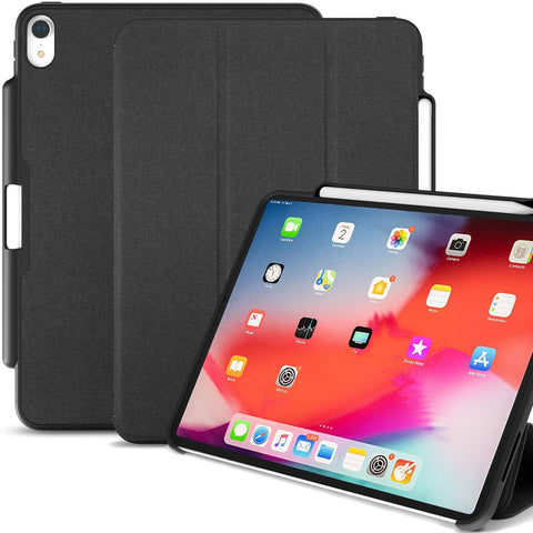 iPad Pro 12.9 (3rd Gen 2018) - Dual PEN Case - Charcoal Grey