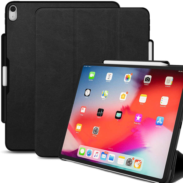 iPad Pro 12.9 (3rd Gen 2018) - Dual PEN - Leather Black