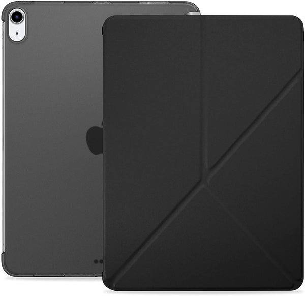 iPad Air 4 Case 10.9-inch 2020 - Dual Origami Series - See Through - Black