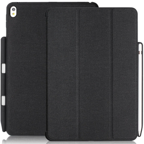 iPad Pro 10.5 Inch Case 2017 - WITH Apple Pencil Holder - DUAL PEN GRAY