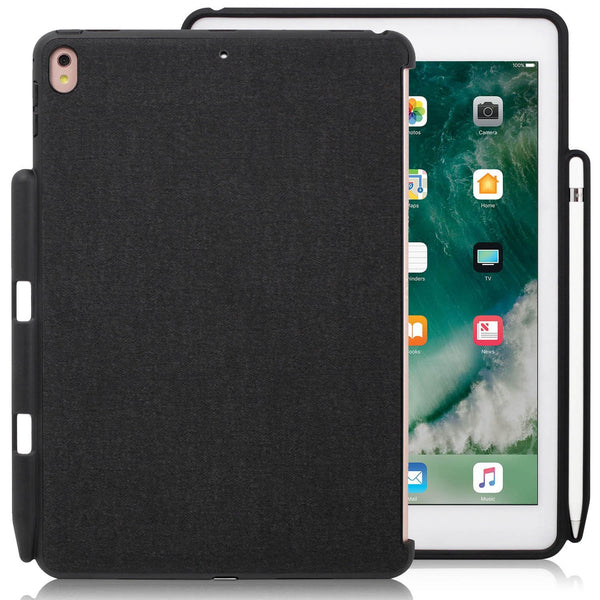 iPad PRO 12.9 2017 / 2015 Inch Back Cover with Pen Holder - Back Pen Charcoal Grey
