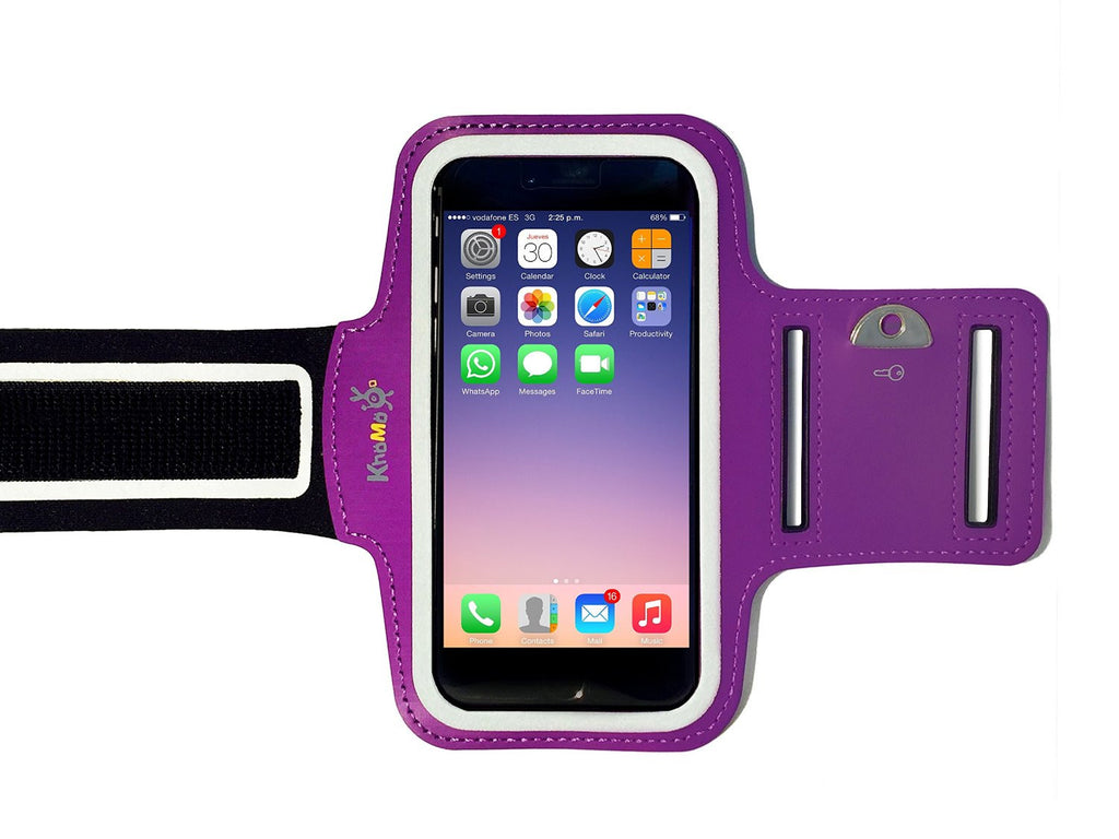 iPhone XS, X, 8, 7, 6/6S - Sports Armband Purple