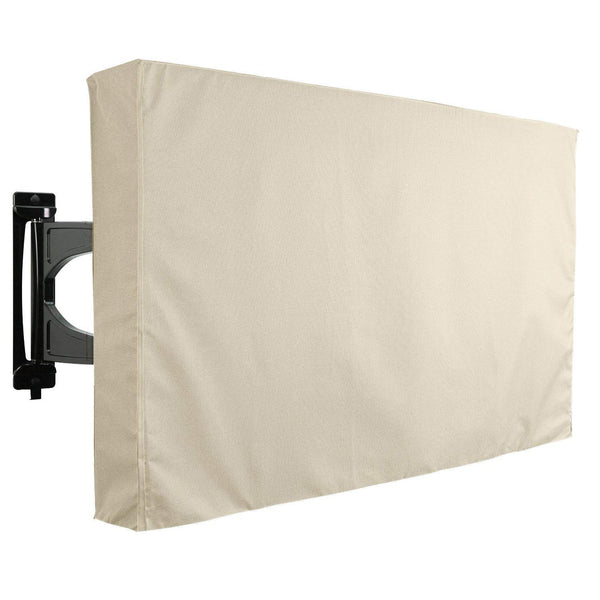 Outdoor TV Cover - Universal Waterproof Protector for 22 to 24 - Beige