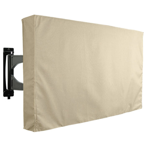 Outdoor TV Cover - Universal Waterproof Protector for 55 to 58 - Beige