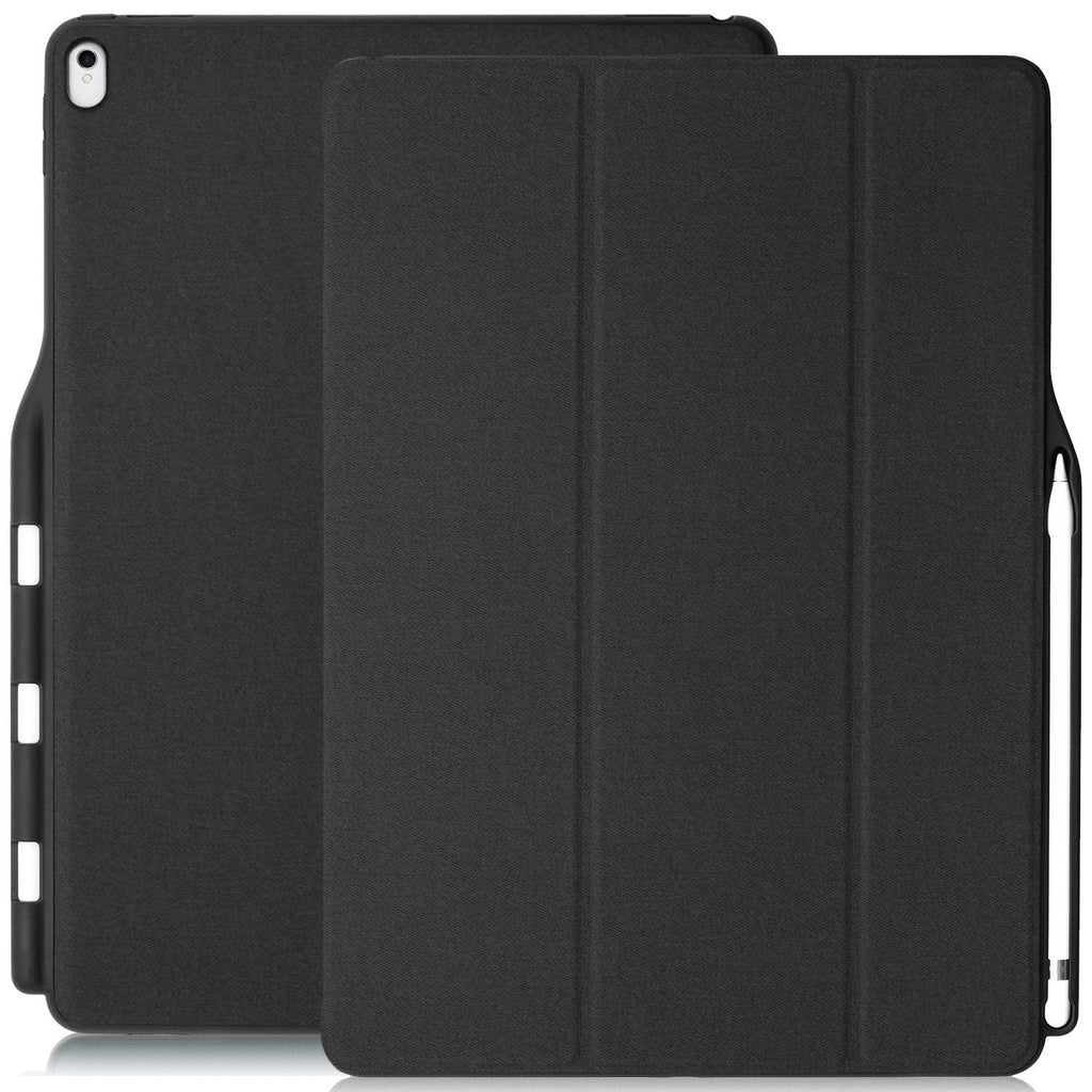 iPad PRO 12.9 2017 / 2015 Smart Case - DUAL PENCIL HOLDER COVER - Gray