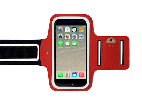 iPhone XS, X, 8, 7, 6/6S - Sports Armband Red