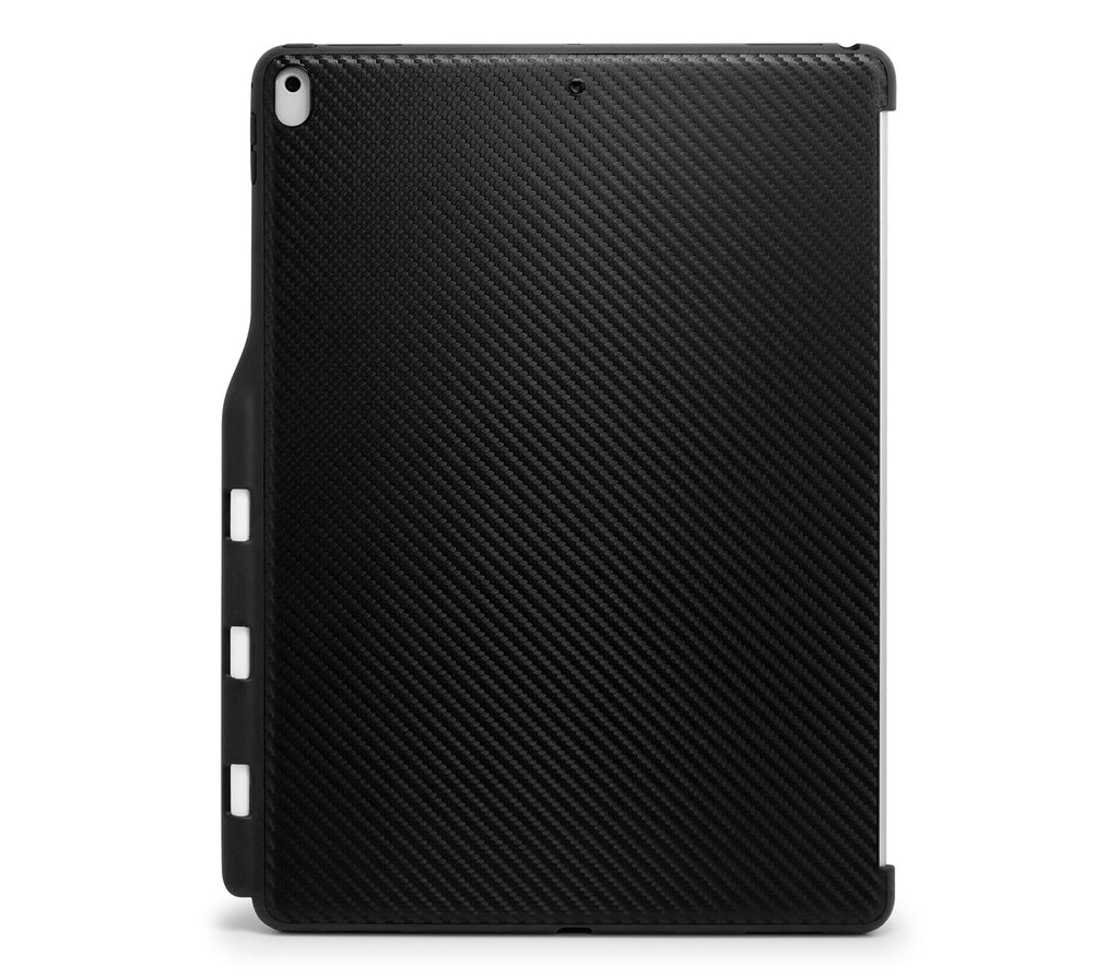 iPad PRO 12.9 2017 / 2015 Inch Back Cover with Pen Holder - Back Pen Carbon Fiber