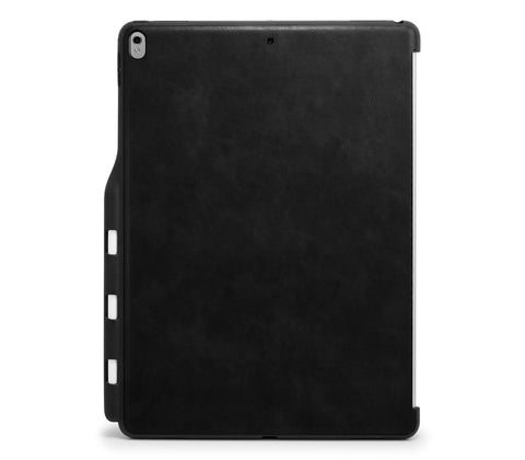 iPad PRO 12.9 2017 / 2015 Inch Back Cover with Pen Holder - Back Pen Leather Black
