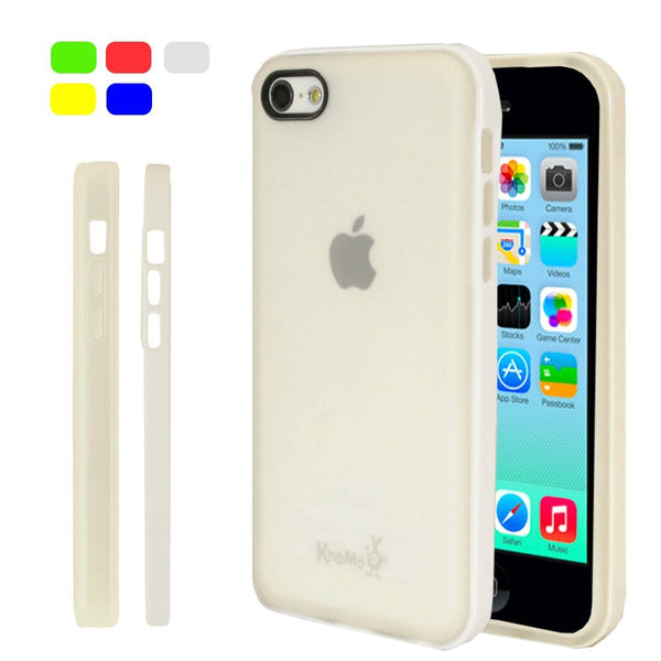 iPhone 5C Clear Hybrid Case - White