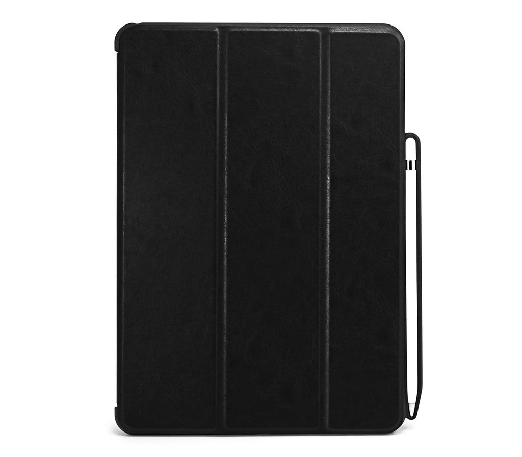 iPad Air 3 10.5 (2019) / iPad Pro 10.5 (2017) - WITH Apple Pencil Holder - DUAL PEN LEATHER BLACK